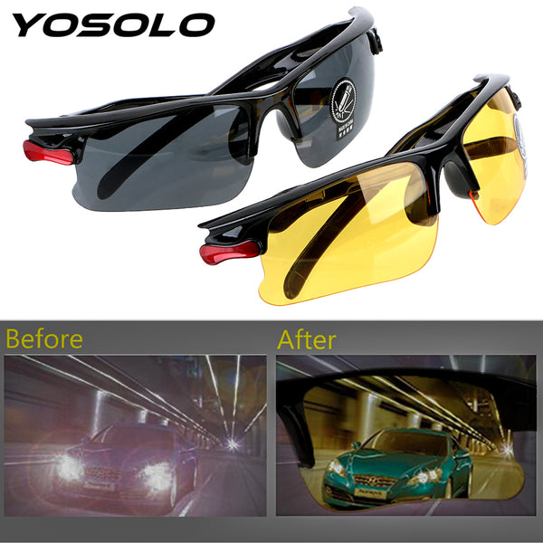 YOSOLO Car Driver Goggles Night-Vision Glasses UV Protective Gears Sunglasses Night Vision Driving Glasses Eyewear Accessories - DealsNode
