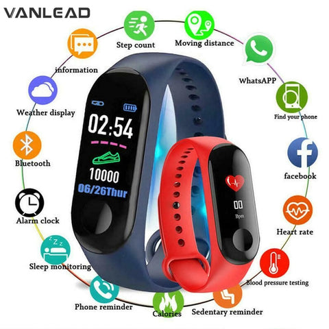 M3 Smart Watch Men Women Waterproof Smart Sports Bracelet Phone Bluetooth Heart Rate Monitor Fitness Wristband For Android IOS - DealsNode