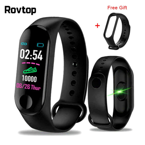 M3plus Smart Wristband Smart Bracelet with Extra Strap Smart Band Heart Rate Activity Fitness Tracker Smart Watch M3 Pro M3 Plus - DealsNode