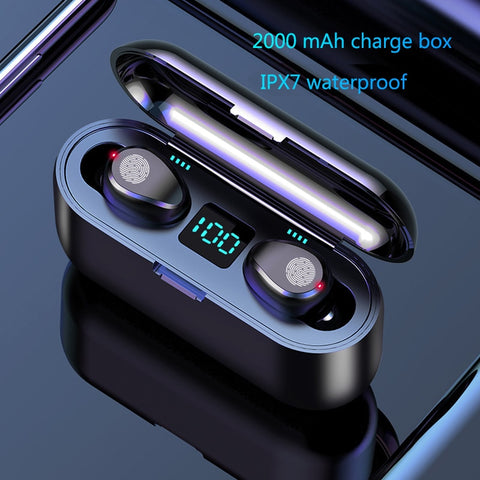 Wireless Bluetooth Earphone 5.0 TWS with charging box - DealsNode