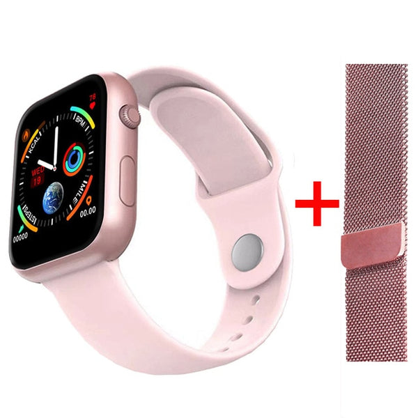 2019 Hot Sale Smart Watch Heart Rate Blood Pressure Monitor Smart Watch Women Smartwatch Men 4 for Apple IOS Android Phone - DealsNode