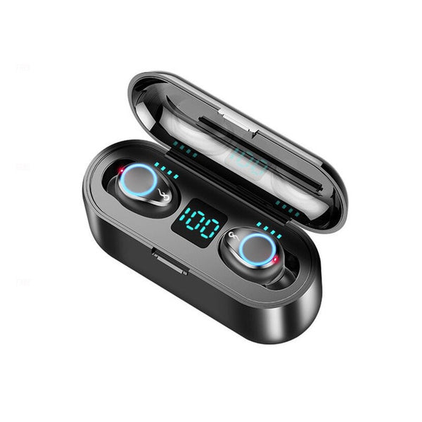 Wireless Earphone Bluetooth V5.0 F9 TWS Wireless Bluetooth Headphone With 2000mAh Power Bank - DealsNode