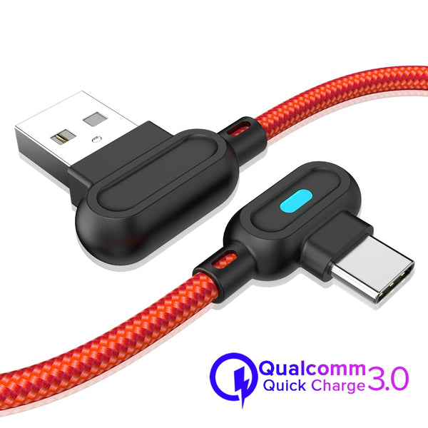 Fast Charging Type C USB Cable 180 Degree Game Cord for Smartphones - DealsNode
