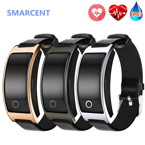 SMARCENT CK11S Smart Band Blood Pressure Heart Rate Monitor Wrist Watch Intelligent Bracelet Fitness Tracker Pedometer Clock - DealsNode