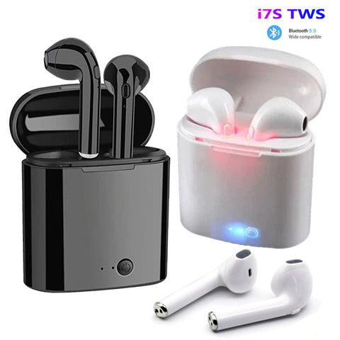 i7s TWS Wireless Earpiece Bluetooth Earphones I7 sport Earbuds Headset With Mic - DealsNode