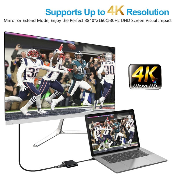 USB 3.0 Type-C To HDMI 4K Adapter Hub with power delivery - DealsNode