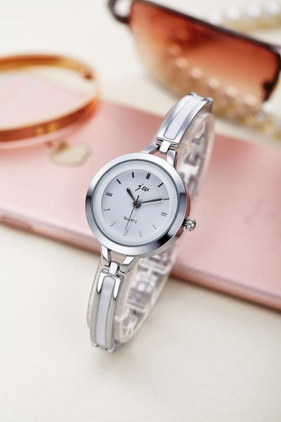 New Fashion Rhinestone Watches Women Luxury Brand Stainless Steel Bracelet watches Ladies Quartz Dress Watches - DealsNode
