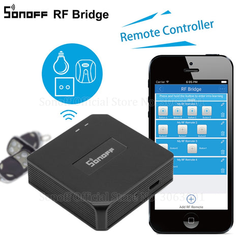 Sonoff RF Bridge WiFi 433 MHz Replacement Smart Home Automation Universal Switch Intelligent Domotica Wi-Fi Remote RF Controller - DealsNode