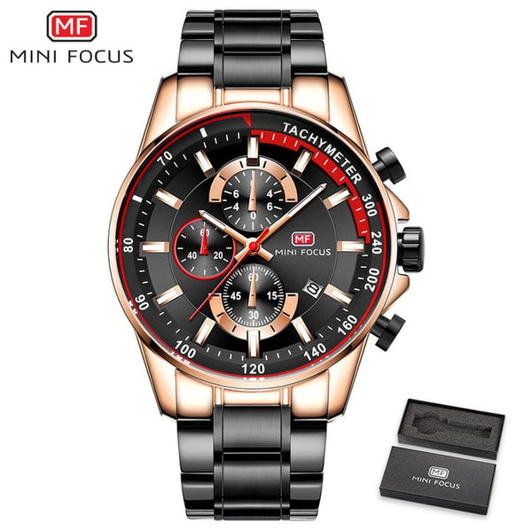MINI FOCUS 2019 Fashion Blue Watch Men - DealsNode