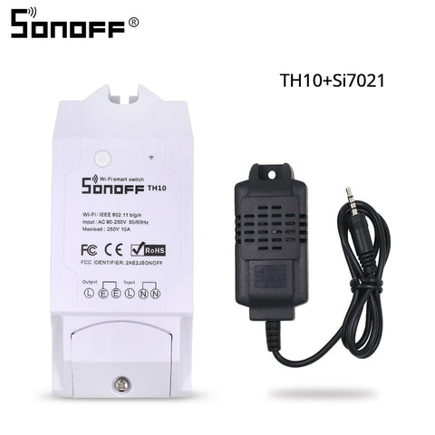 SONOFF TH10/TH16 SI7021 Humidity Sensor Switch Wireless Probe Temperature Monitor Monitoring Wifi Smart Home Remote Controller - DealsNode