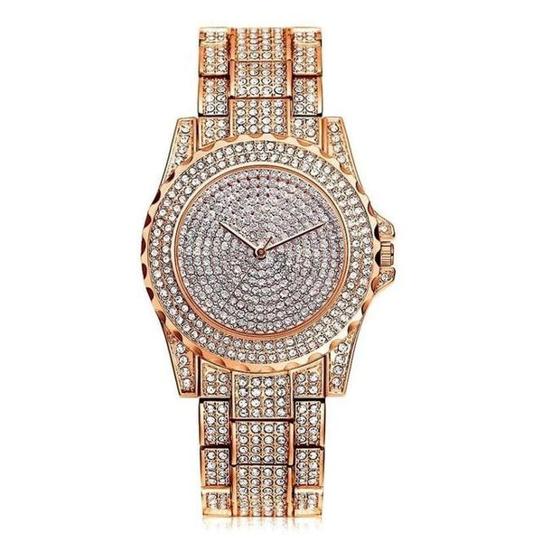 Women Quartz Watch Fashion Bling Casual Ladies Watch Female Quartz Gold Watch Crystal Diamond For Women Clock - DealsNode
