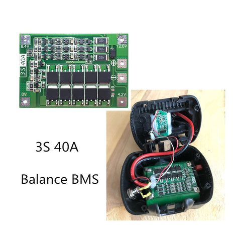 Smart electronics BMS /protection board 3S 40A for drill - DealsNode