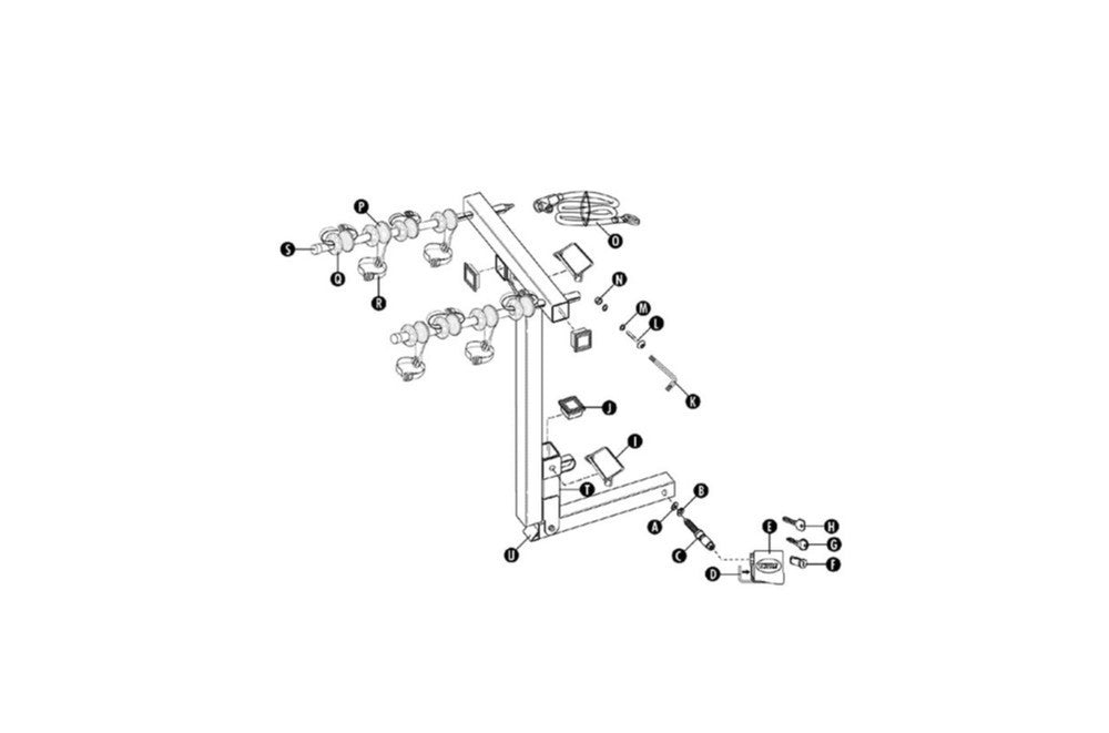 Thule 994 Expressway Hitch Carrier Bike Rack Spare Parts