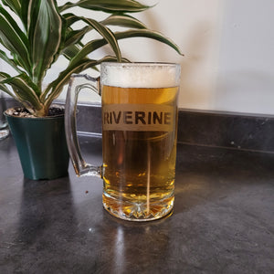 Riverine Etched Beer Mug - Metalhead by design