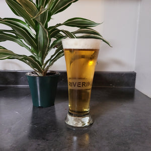 Riverine Etched Beer Glass - Metalhead by design
