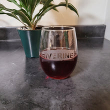 Load image into Gallery viewer, Riverine Etched Wine Glass - Metalhead by design