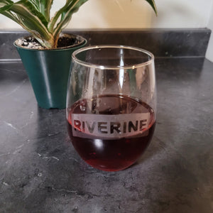 Riverine Etched Wine Glass - Metalhead by design
