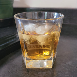 Riverine Etched Whiskey Glass - Metalhead by design
