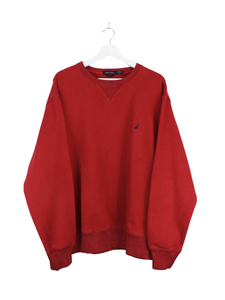 Nautica Basic Sweater Rot XL