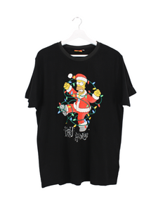 The Simpsons Holiday Print T-Shirt Schwarz XL
