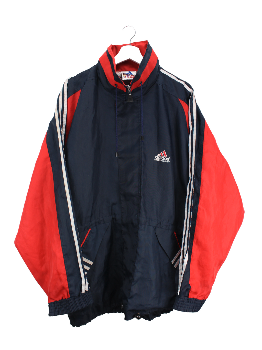 Adidas Equipment Jacke Blau/Rot L
