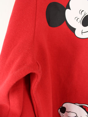 Disney Mickey Mouse Sweater Rot L