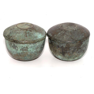 * A Pair of Tang Dynasty Bronze Lidded Bowls, ca. 618 - 906 AD - Sands of Time Ancient Art