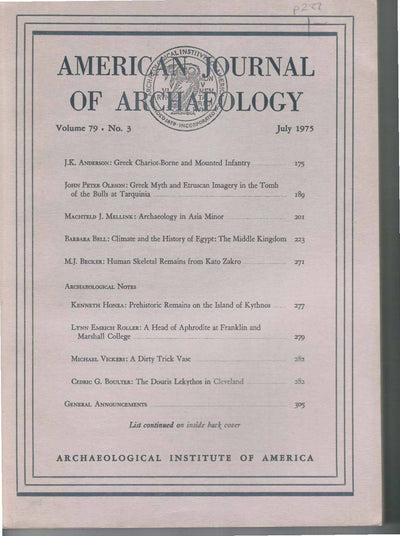 American Journal of Archaeology Vol. 79  No. 3, July 1975 - Sands of Time Ancient Art