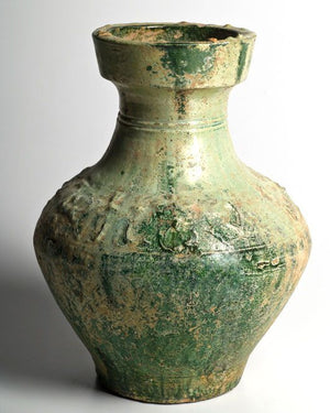 A large Chinese Green Glazed Hu, Eastern Han Dynasty, 25 - 220 CE - Sands of Time Ancient Art