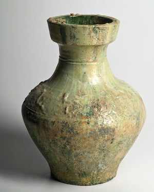 A large Chinese Green Glazed Hu, Eastern Han Dynasty, 25 - 220 AD - Sands of Time Ancient Art
