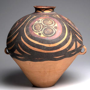 A Large Chinese Neolithic Painted Pottery Jar, Majiayao Yangshao Culture, Ma-chang phase, circa 2300-2000 BCE - Sands of Time Ancient Art