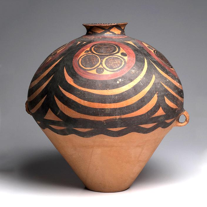 A Large Chinese Neolithic Painted Pottery Jar, Majiayao Yangshao Culture, Ma-chang phase, circa 2300-2000 B.C. - Sands of Time Ancient Art