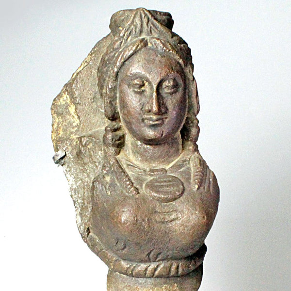 A Grey Schist Relief of the Goddess Hariti, Gandhara, ca 3rd century AD - Sands of Time Ancient Art
