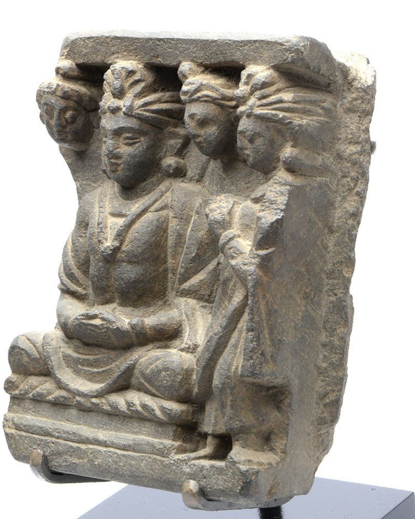A Gandhara Relief Panel of Bodhisattva with Worshippers, ca 3rd century AD - Sands of Time Ancient Art