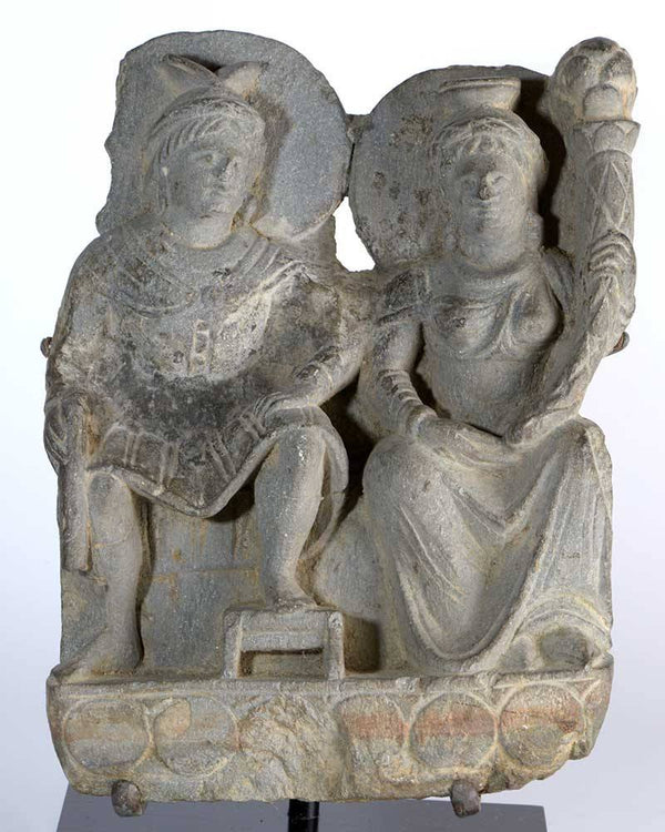 A Gandhara Relief of Pancika and Hariti, ca 3rd century AD - Sands of Time Ancient Art