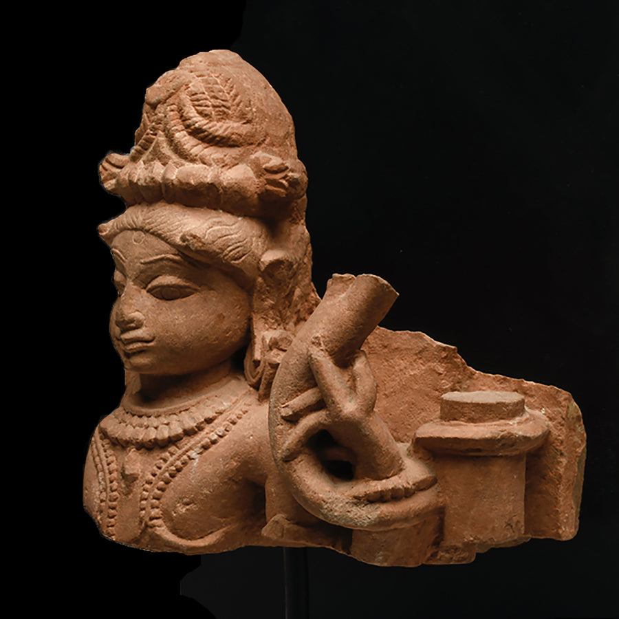 An Indian Red Sandstone Figural Fragment, Middle Periods, ca. 10th - 12th century CE - Sands of Time Ancient Art
