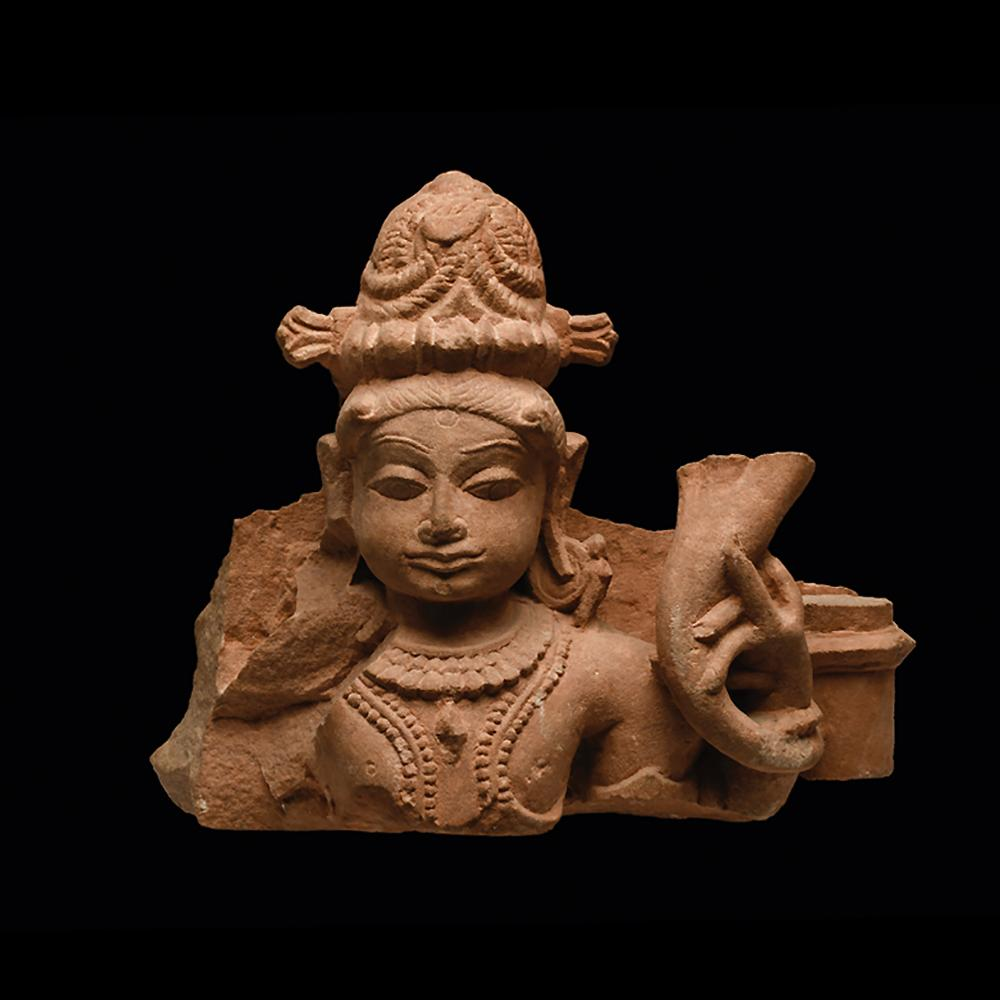 * An Indian Red Sandstone Figural Fragment, Middle Periods, ca. 10th - 12th century AD - Sands of Time Ancient Art
