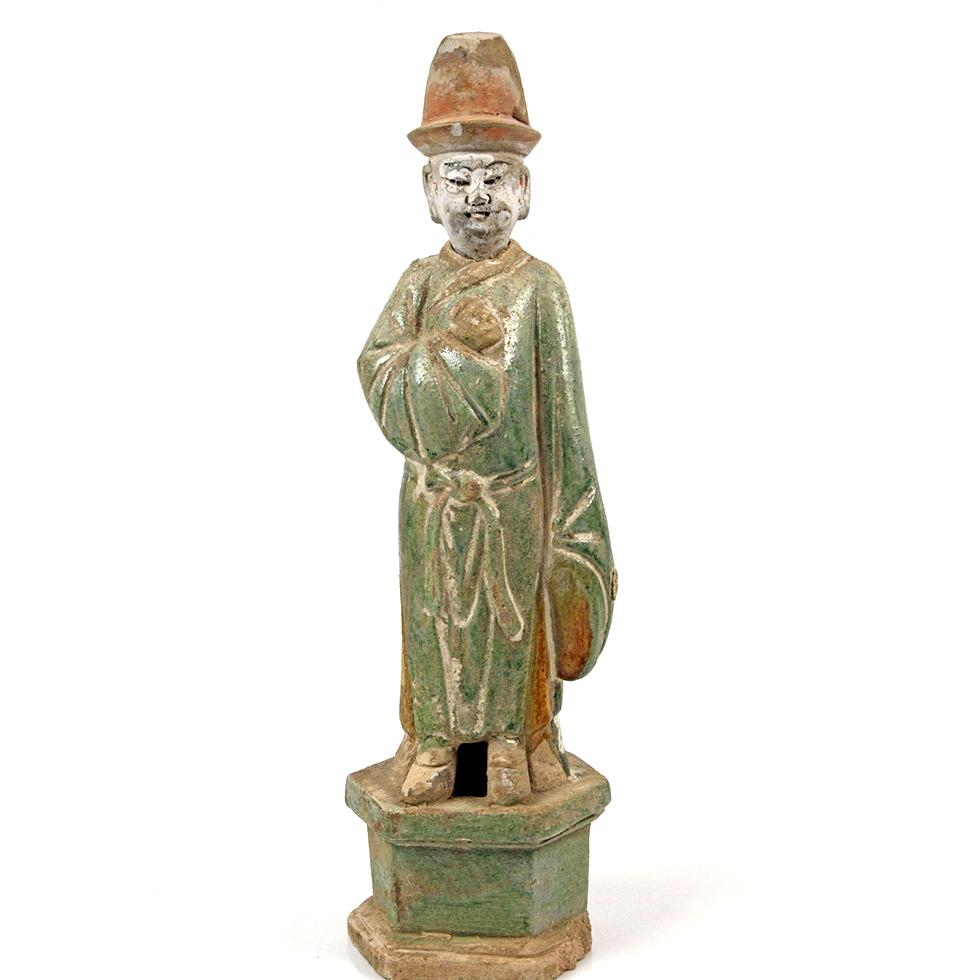 * A Chinese Sancai-Glazed Attendant, Ming Dynasty, ca 1368-1644 CE - Sands of Time Ancient Art