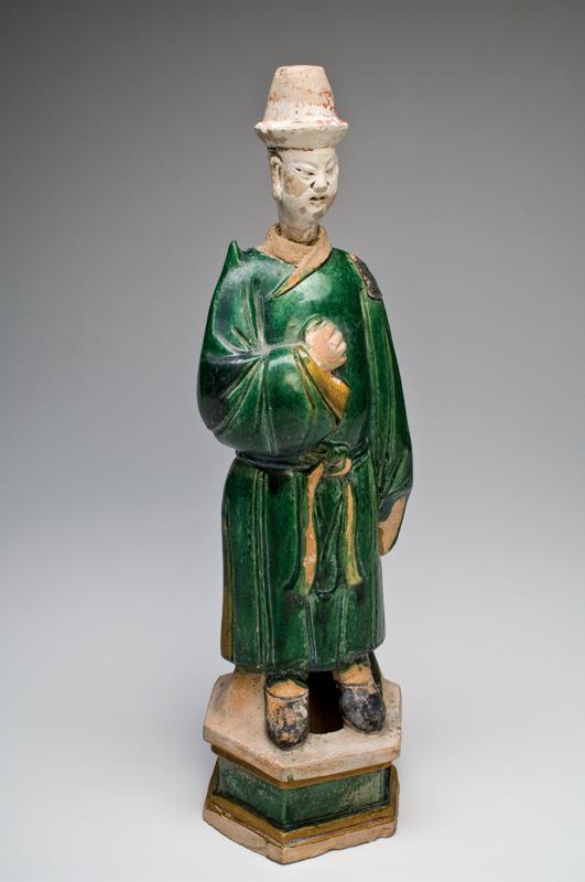 A large Chinese Sancai-Glazed Tomb Figure, Ming Dynasty, ca 1368-1644 CE