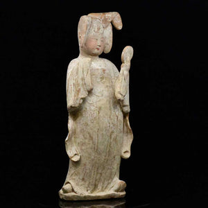 * A Chinese Painted Pottery Court Lady, Tang Dynasty, ca. mid 8th century CE