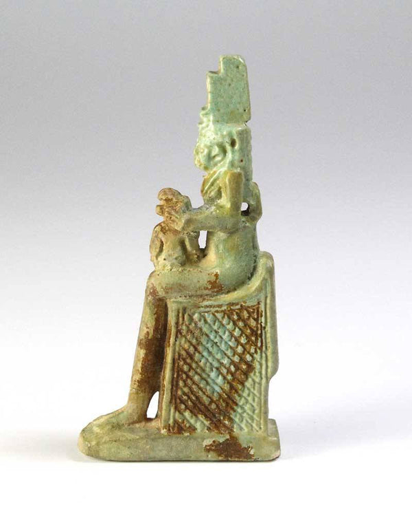 An Egyptian Faience Amulet of Isis & Horus, 26th Dynasty, ca 664 - 525 BC