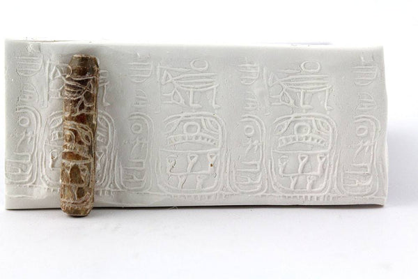 An Important Steatite Cylinder Seal for Sesostris III & Amenemhat III, Dynasty 12, ca. 1844 - 1841 BC