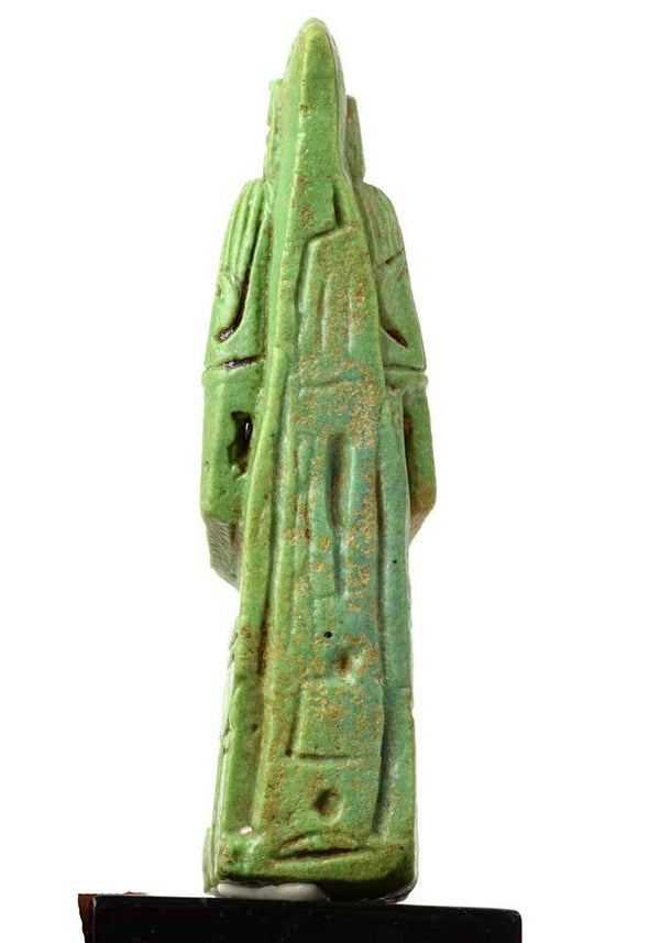An Egyptian Faience Amulet of Hatmehyt, 21st  Dynasty, ca. 1969-945 BC
