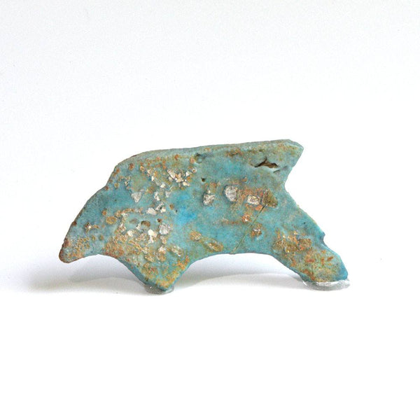 A Published Egyptian faience Oxyrhynchus Fish amulet, Late Period, 722-332 BC - Sands of Time Ancient Art
