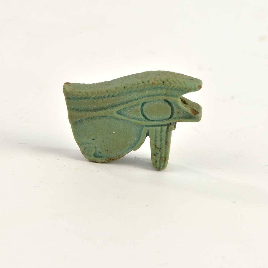 An Egyptian Faience Wedjat Eye Amulet, 26th Dynasty, ca 664 - 525 BC