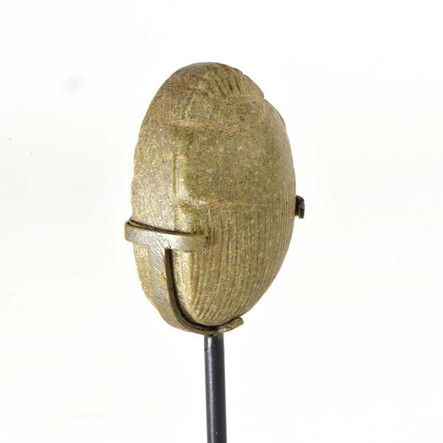 An Egyptian Green Diorite Heart Scarab, 21st Dynasty, 1069 - 945 BC - Sands of Time Ancient Art