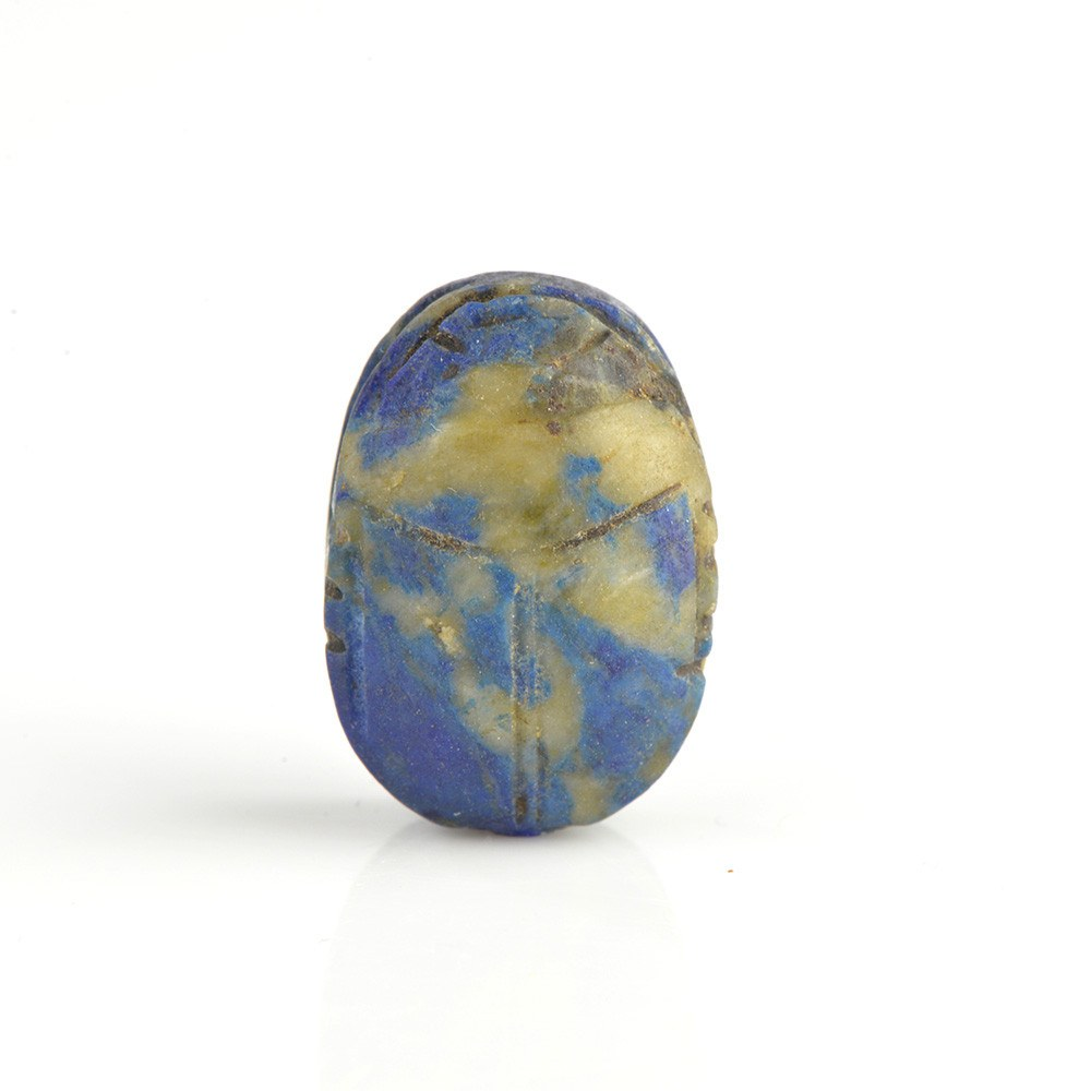 An Egyptian Lapis Lazuli Scarab, Middle Kingdom, ca. 2060 - 1786 BCE - Sands of Time Ancient Art