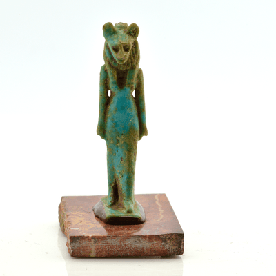 A fine Egyptian Faience Amulet of Sekhmet, Late Period, ca. 700-30 B.C. - Sands of Time Ancient Art