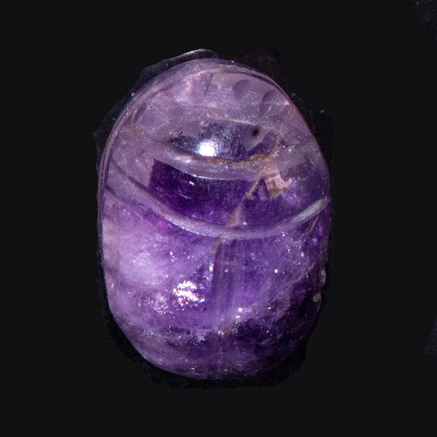 * An Egyptian Amethyst Scarab, Middle Kingdom, c. 2025–1760 B.C.
