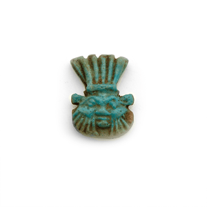 An Egyptian Faience Amulet of the God Bes, Late Period, ca. 700 - 332 BCE - Sands of Time Ancient Art